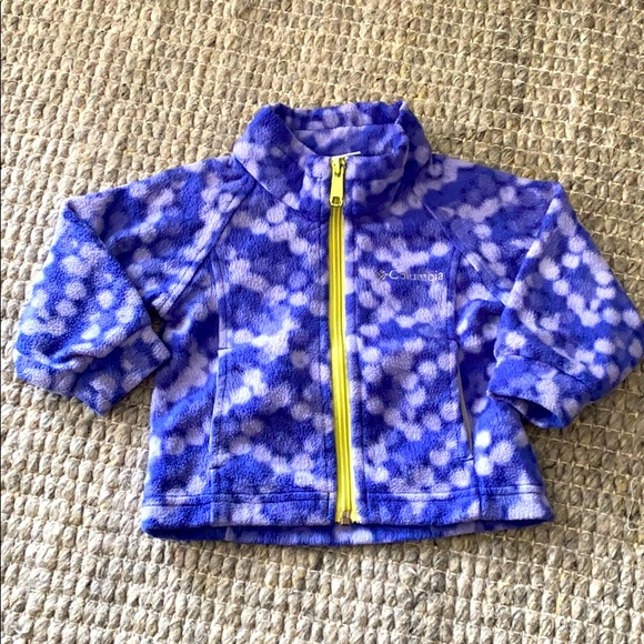 COLUMBIA Baby Girl Zip Fleece Jacket Sz: 12 mo
